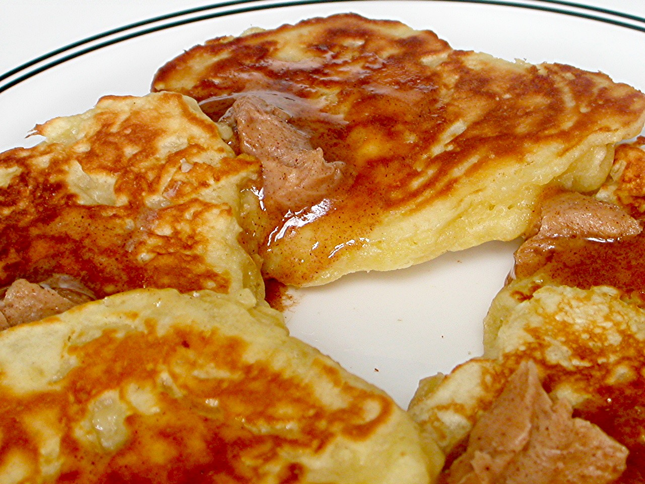 mixing it up (apple pancakes with cinnamon butter)